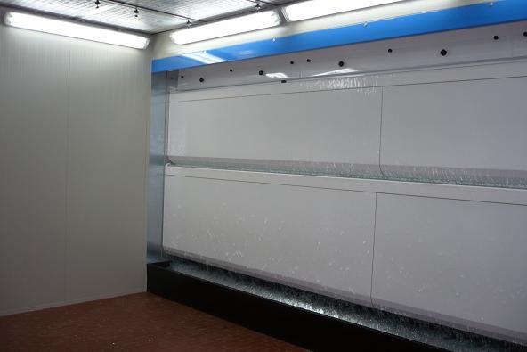 Cabina di verniciatura ad acqua - vasca piccola