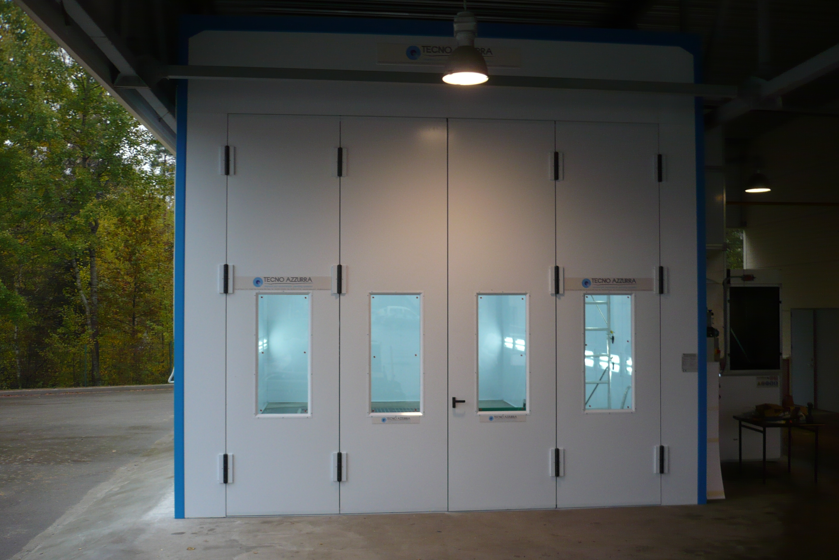 Pressurised systems for painting and / or drying - Tecnoazzurra